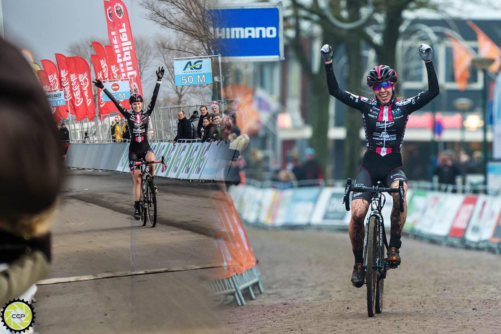 Suzanne Verhoeven en Shirin van Anrooij pakken Nationale titel veldrijden